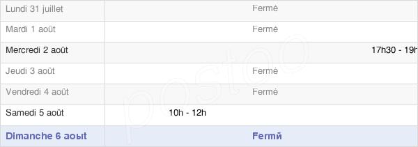 horaires d'ouverture de la Mairie De Plessis-Saint-Jean