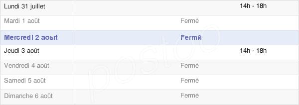 horaires d'ouverture de la Mairie De Villon