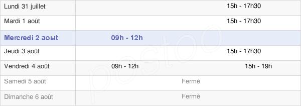 horaires d'ouverture de la Mairie D'Étigny