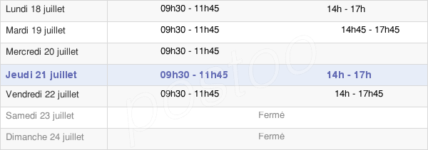 horaires d'ouverture de la Mairie De Courtois-Sur-Yonne
