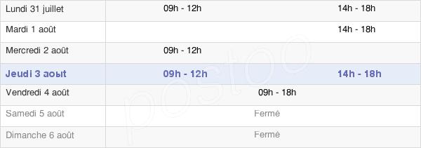 horaires d'ouverture de la Mairie De Vergigny