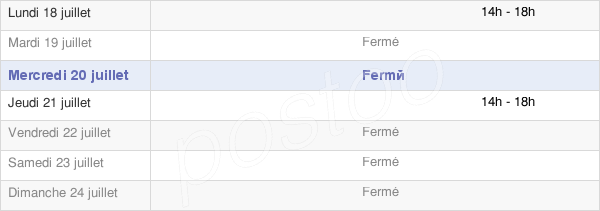horaires d'ouverture de la Mairie De Bierry-Les-Belles-Fontaines