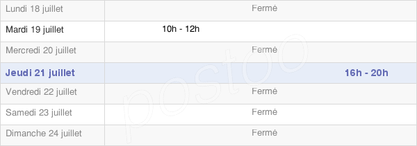 horaires d'ouverture de la Mairie De Venouse