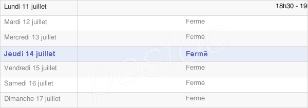 horaires d'ouverture de la Mairie De Pacy-Sur-Armançon