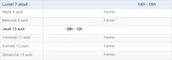 horaires d'ouverture de la Mairie De Sainte-Vertu