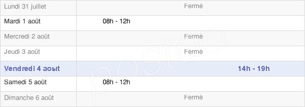 horaires d'ouverture de la Mairie De Villebougis