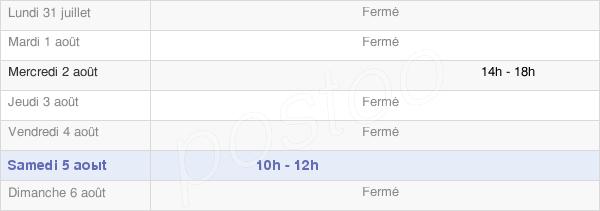 horaires d'ouverture de la Mairie D'Arthonnay