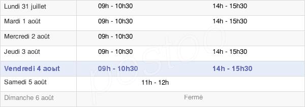 horaires d'ouverture de la Mairie D'Ormoy