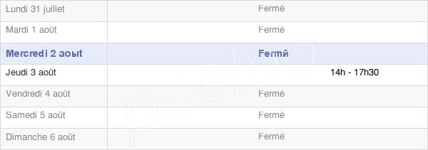 horaires d'ouverture de la Mairie De Saint-Denis-Sur-Ouanne