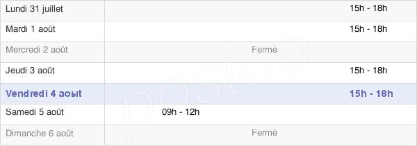 horaires d'ouverture de la Mairie De Brugheas