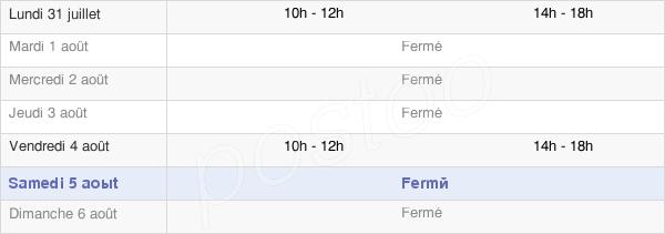 horaires d'ouverture de la Mairie De Chemilly-Sur-Serein