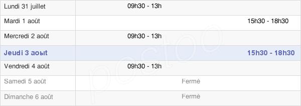 horaires d'ouverture de la Mairie De Saint-Germain-De-Salles