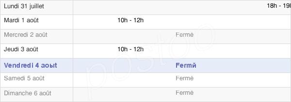 horaires d'ouverture de la Mairie De Dannemoine