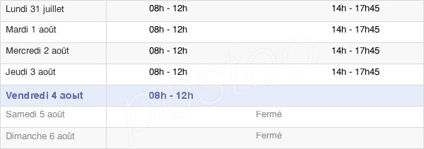 horaires d'ouverture de la Mairie De Saint-Loup