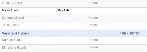 horaires d'ouverture de la Mairie De Moulins-Sur-Ouanne