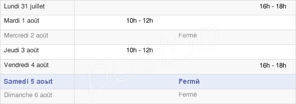 horaires d'ouverture de la Mairie De Beaumont