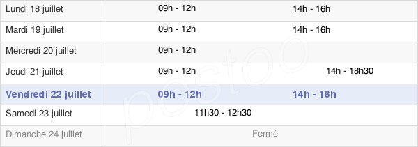 horaires d'ouverture de la Mairie De Beauvoir