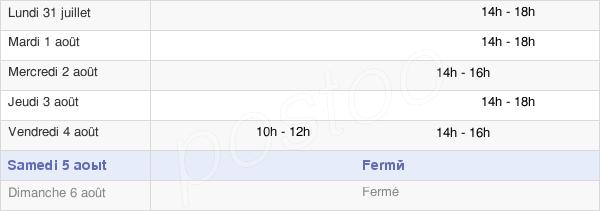 horaires d'ouverture de la Mairie De Bassou