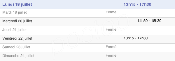 horaires d'ouverture de la Mairie De Varennes
