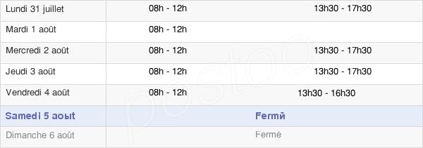horaires d'ouverture de la Mairie De Bessay-Sur-Allier