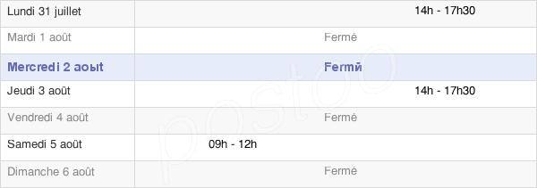 horaires d'ouverture de la Mairie De Passy