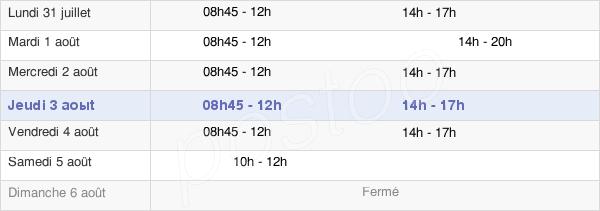 horaires d'ouverture de la Mairie De Verneuil-Sur-Seine