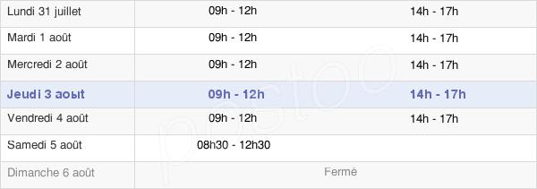 horaires d'ouverture de la Mairie De Maule
