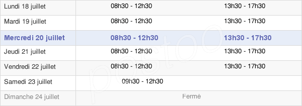 horaires d'ouverture de la Mairie De Bougival