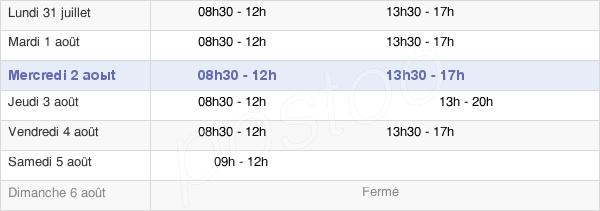 horaires d'ouverture de la Mairie De Guyancourt