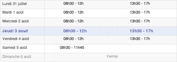 horaires d'ouverture de la Mairie De Carrières Sur Seine