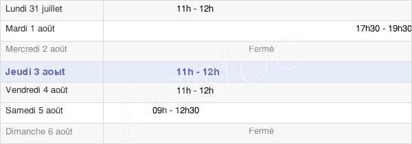 horaires d'ouverture de la Mairie De Dammartin-En-Serve