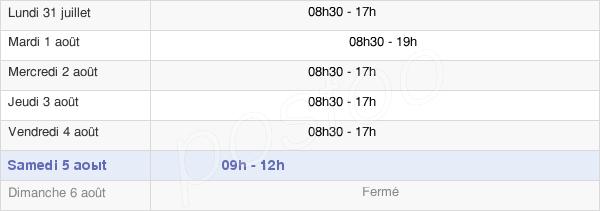horaires d'ouverture de la Mairie Du Chesnay