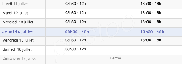 horaires d'ouverture de la Mairie De Chambourcy