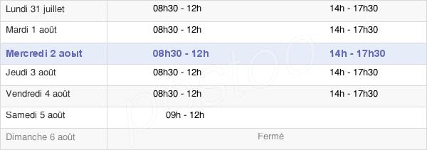 horaires d'ouverture de la Mairie De Juziers