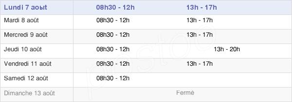 horaires d'ouverture de la Mairie Du Pecq