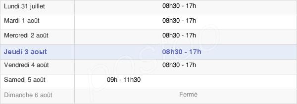 horaires d'ouverture de la Mairie De Versailles