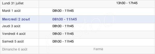 horaires d'ouverture de la Mairie De Saint-Arnoult-En-Yvelines