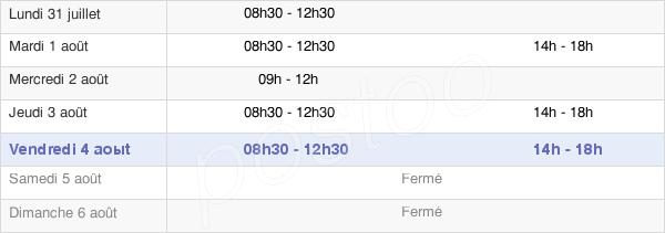 horaires d'ouverture de la Mairie De Chevagnes