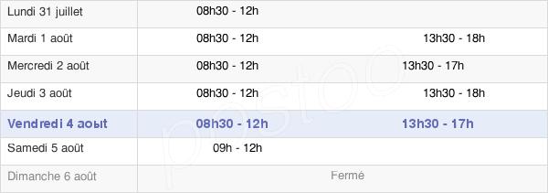 horaires d'ouverture de la Mairie De Chevreuse