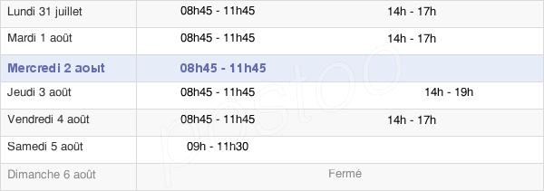 horaires d'ouverture de la Mairie Du Perray-En-Yvelines