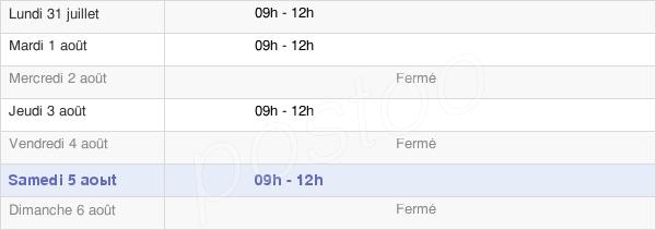 horaires d'ouverture de la Mairie De Moisson