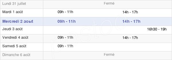 horaires d'ouverture de la Mairie De Crespières