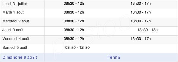 horaires d'ouverture de la Mairie De Rocquencourt