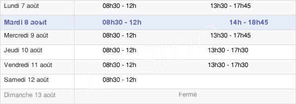 horaires d'ouverture de la Mairie D'Achères