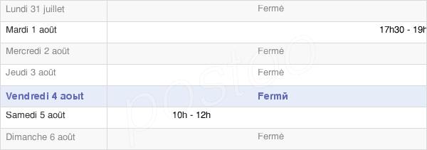 horaires d'ouverture de la Mairie De Béhoust