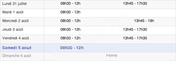 horaires d'ouverture de la Mairie De Carrières-Sous-Poissy