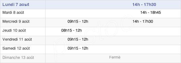 horaires d'ouverture de la Mairie De Bouafle