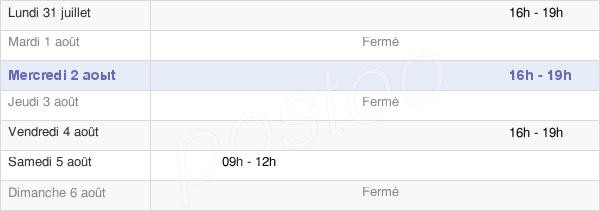 horaires d'ouverture de la Mairie De Drocourt
