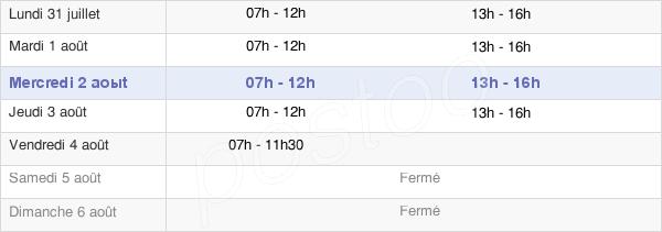 horaires d'ouverture de la Mairie D'Acoua