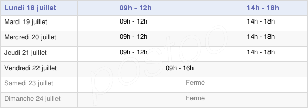 horaires d'ouverture de la Mairie De Saint-Germain-Des-Fossés